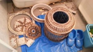 福岡市早良区昭代東芝製洗濯機分解クリーニング作業前