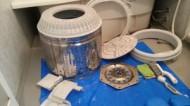 福岡市早良区昭代東芝製洗濯機分解クリーニグ作業後