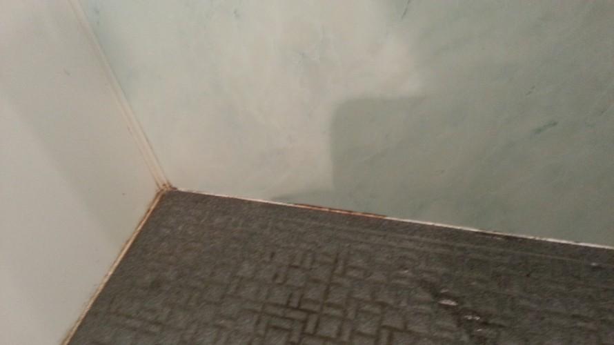 福岡市早良区次郎丸浴室クリーニングコーキングのカビお掃除前