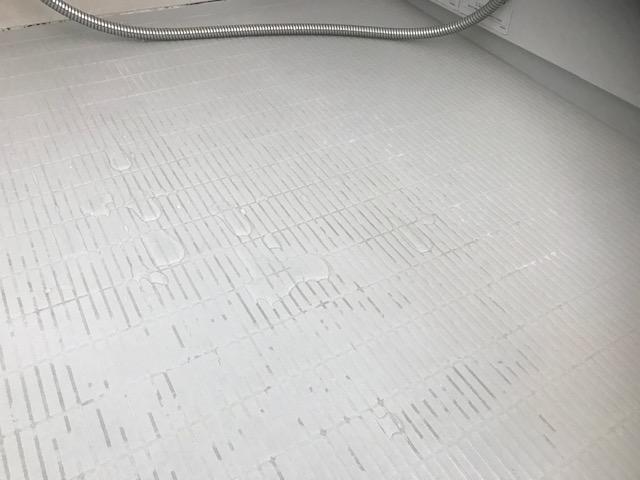 福岡市早良区お風呂の凹凸床お掃除前