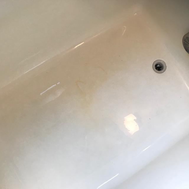 浴槽錆びお掃除前