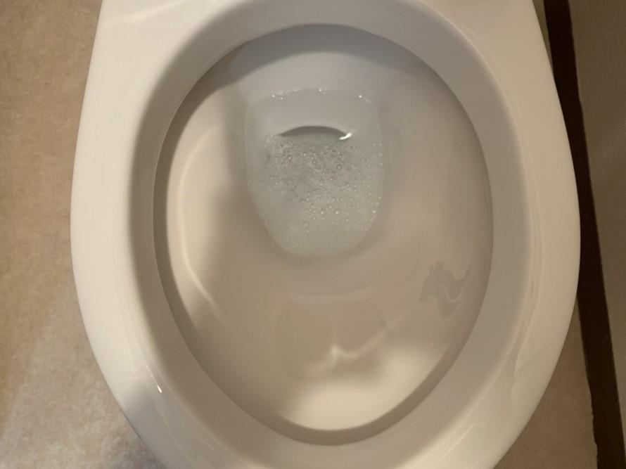 社宅のトイレの便器掃除後