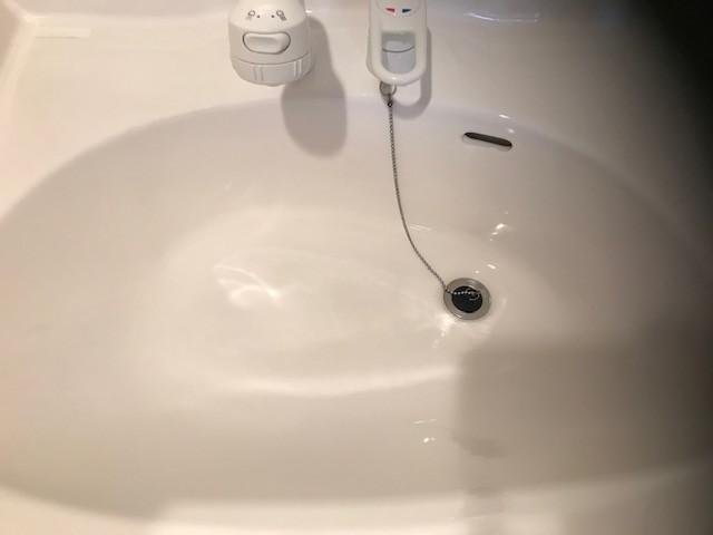 洗面ボウル掃除後