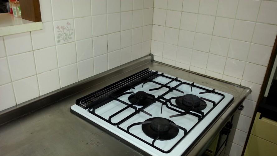 キッチンコンロ掃除後