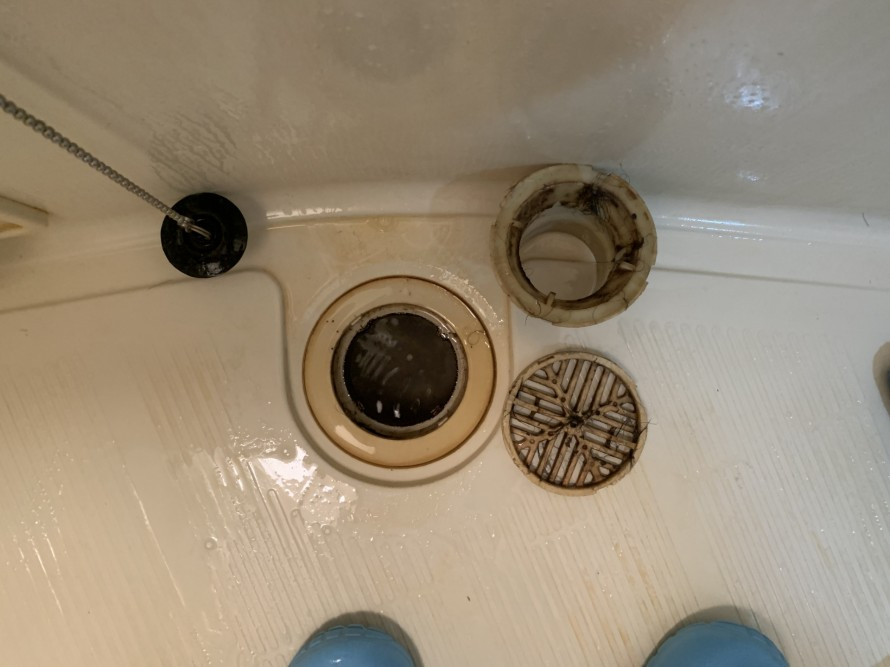 社宅のお風呂の排水口掃除前