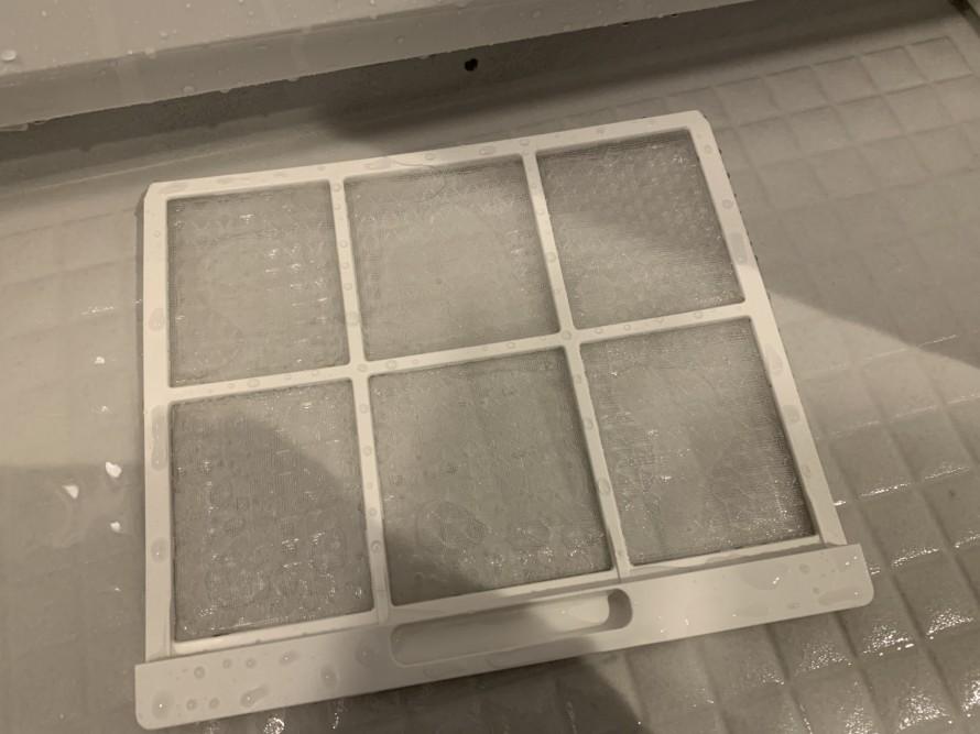 お風呂の乾燥機フィルター掃除後